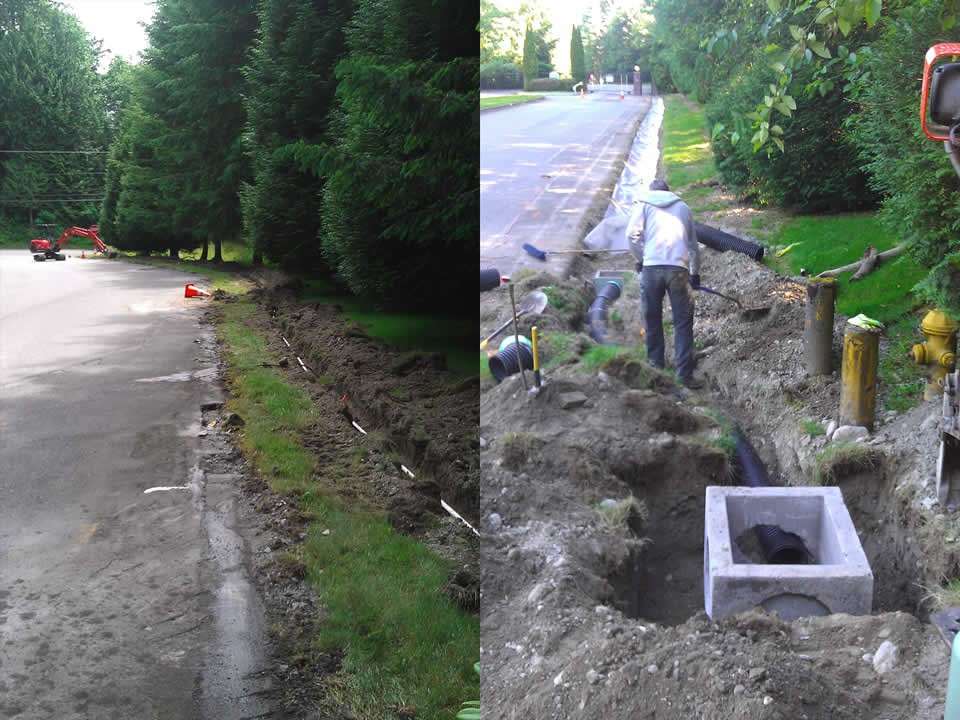 Drainage Hone Landscape And Excavation Services In King